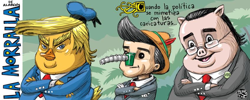 Política y caricaturas - Alarcón