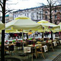 Kraków Rynek Polska parasolki