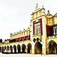 Kraków Rynek Polska Sukiennice zdjęcie w stylu obrazu