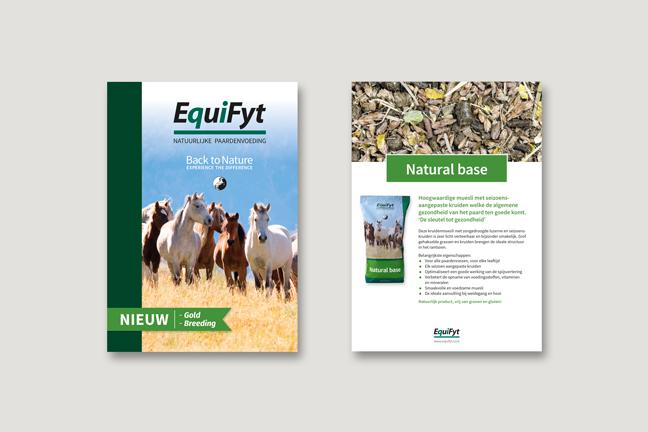 ontwerp logo, huisstijl en verpakkingen voor EquiFyt door Miet Marneffe
