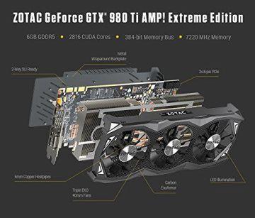 ZOTAC GeForce GTX 980TI AMP Extreme 6GB GDDR5 384b - 10