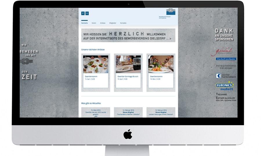 gewerbeverein dielsdorf webdesign by grafikzumglueck