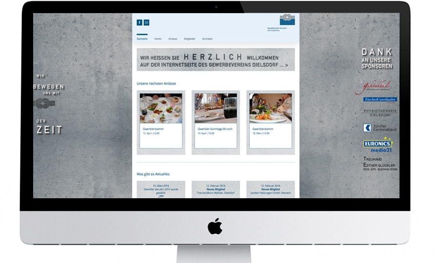 gewerbeverein dielsdorf webdesign by grafikzumglueck