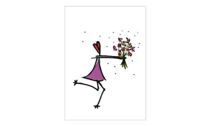 Grusskarte - Blumen für Dich - Grafik Design - grafik ZUM GLÜCK.CH