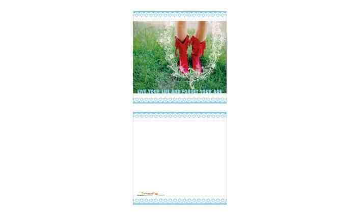 Grusskarte - Live your life - Grafik Design - grafik ZUM GLÜCK.CH