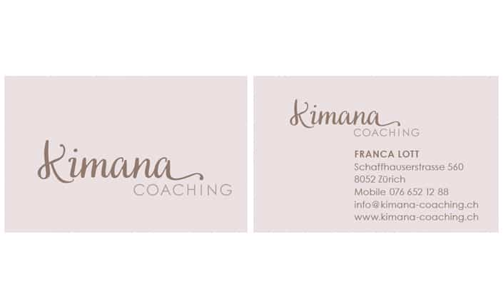 Kimana Coaching Logo Corporate Desing by grafikzumglueck