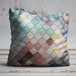 Sierkussen gekleurde tegels