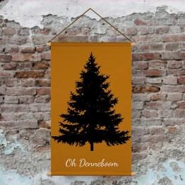 Textielposter kerstboom