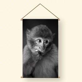 Textielposter aap