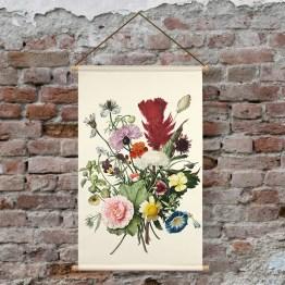 Textieloster boeket bloemen