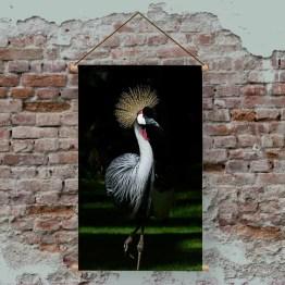 Textielposter Kraanvogel