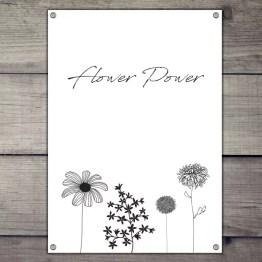 Flower power tuinposter