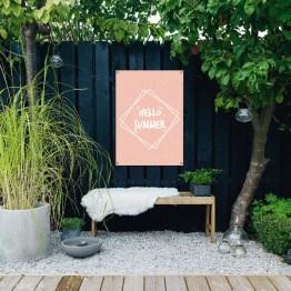 tuinposter hello summer