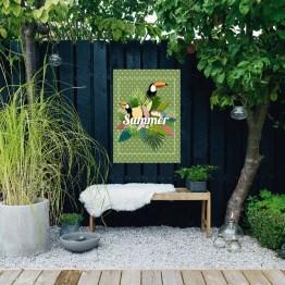 Tuinposter Toekan groen