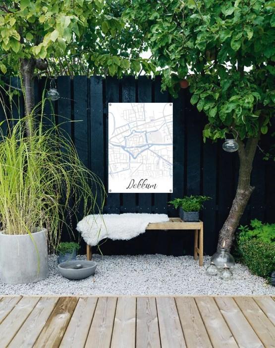 Plattegrond tuinposter