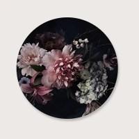 Flowers muurcirkel