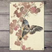 Vintage tuinposter vogel