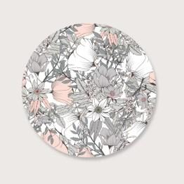 Pastel flower muurcirkel