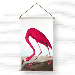 Textielposter Flamingo