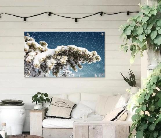Tuinposter sneeuw