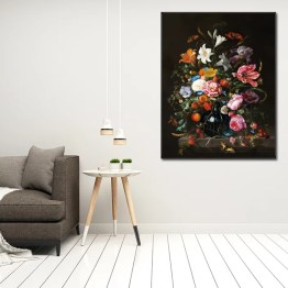 Akoestisch paneel tulips roses