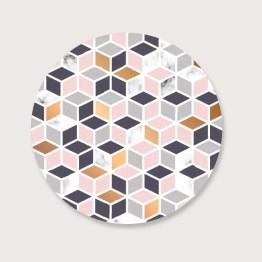 Muurcirkel marmer design