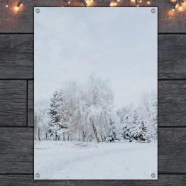 Tuinposter winterlandschap