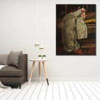 akoestisch paneel Meisje in witte kimono