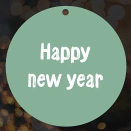 Kerstbal happy new year