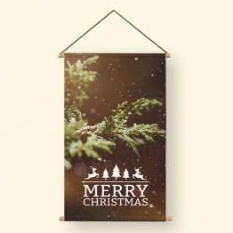 Textielposter Christmas