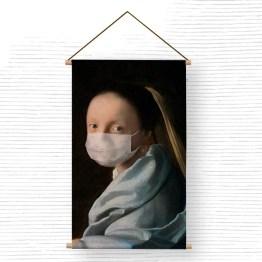 Textielposter mask