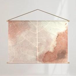 Schoolplaat roze blad