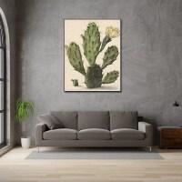 Bloeiende vijgcactus akoestisch paneel