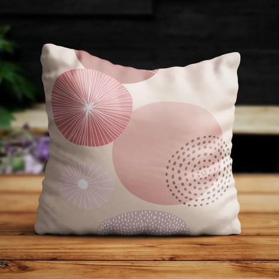 Buitenkussen pink round