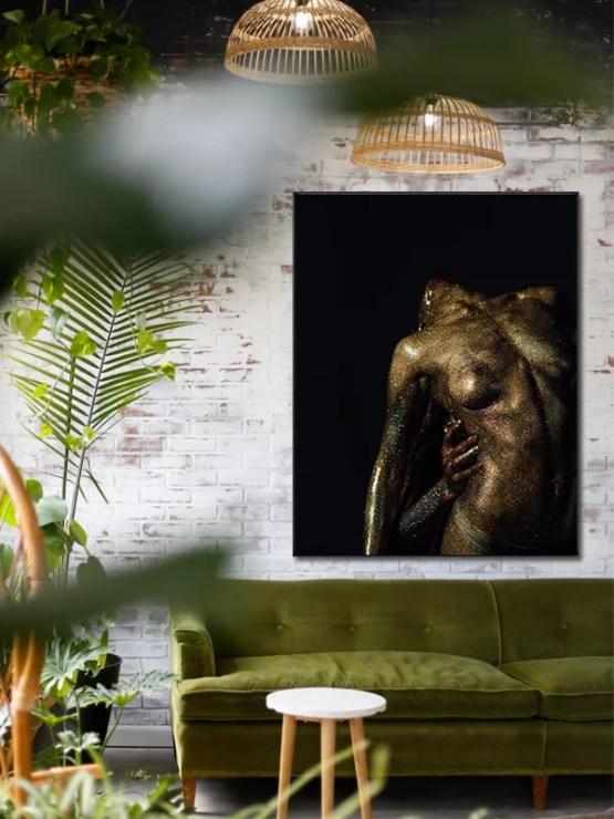 Naked woman akoestisch paneel