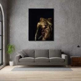 Akoestisch paneel naked women