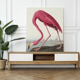 Canvas akoestisch paneel Pink Flamingo