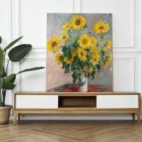 Canvas akoestsich paneel Sunflowers