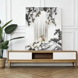 Canvas akoestisch paneel waterfall