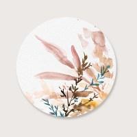 Muurcirkel Autumn floral