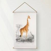 Textielposter Giraffe