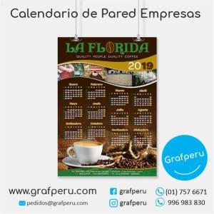 CALENDARIOS PUBLICITARIOS CORPORATIVOS EMPRESAS PARED BARATO GRAFPERU LIMA PERU