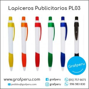 LAPICEROS PUBLICITARIOS CORPORATIVO 03 LOGO ECOLOGICOS BARATOS ECONOMICOS GRAFPERU LIMA PERU