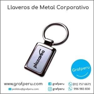 LLAVEROS PUBLICITARIOS METAL CORPORATIVO LOGO ECOLOGICOS BARATOS ECONOMICOS GRAFPERU LIMA PERU