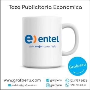 TAZA PUBLICITARIA ECONOMICA CORPORATIVA LOGO ECOLOGICO BARATO ECONOMICO GRAFPERU LIMA PERU