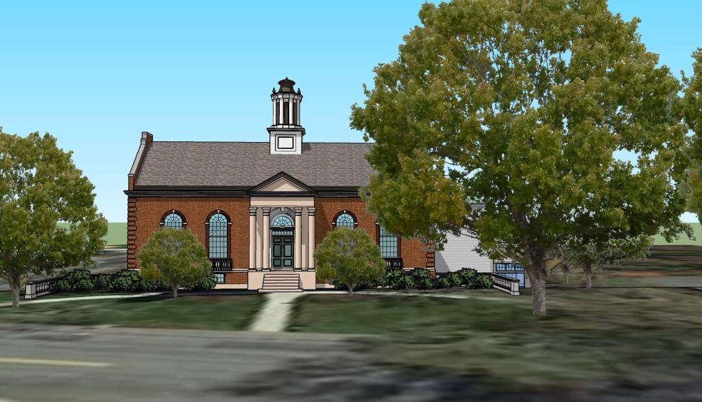 3-D Rendering of Proposed Library Expansion