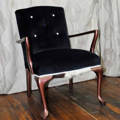 SOLD French maid dressing room chair $350