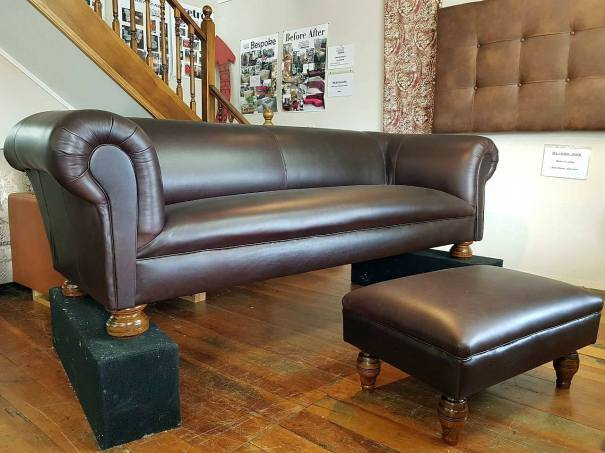 Stunning, built to last & proudly handmade in New Zealand. This Chesterfield couch was made by Graham & Sons 20 years ago, including the strong solid frame. fully refurbished with new memory foam seat and back, and sprung seat and back. NZ Tasman Leathers