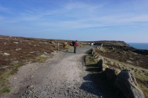 Graham walking along the coast path from Lands End