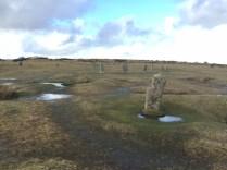 standing stones on the moor